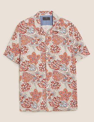 Paisley Print Revere Shirt