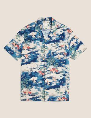 Linen Hawaiian Shirt