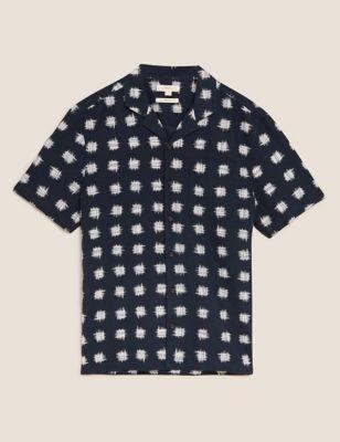 Linen Ikat Print Shirt