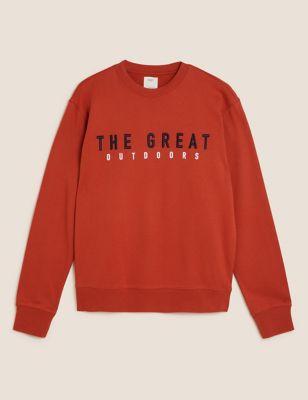 Pure Cotton Embroidered Sweatshirt