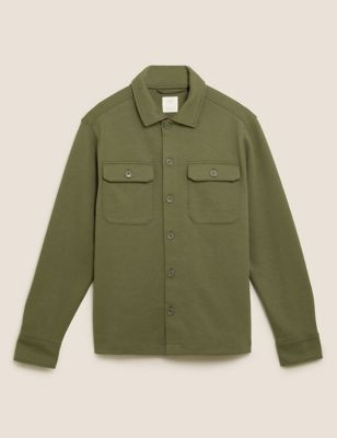 Cotton Jersey Overshirt