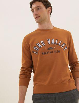Pure Cotton Graphic Sweatshirt