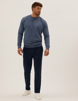 Cotton Straight Leg Joggers