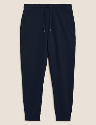 Textured Pure Cotton Zip Pocket Joggers