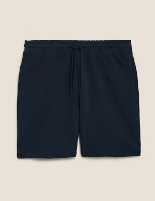 Pure Cotton Textured Zip Pocket Shorts