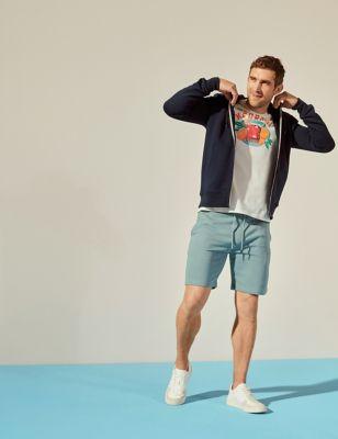 Drawstring Jersey Shorts