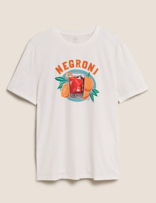 Pure Cotton Negroni Graphic T-Shirt