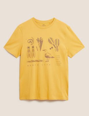 Pure Cotton Beach Essentials Print T-Shirt