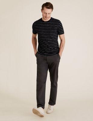 Slim Fit Pure Cotton Striped T-Shirt