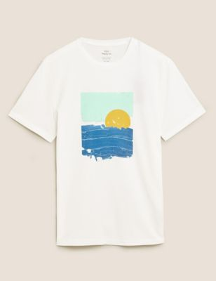 Pure Cotton Graphic T-Shirt