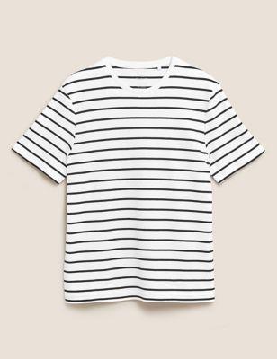Pure Cotton Striped T-Shirt