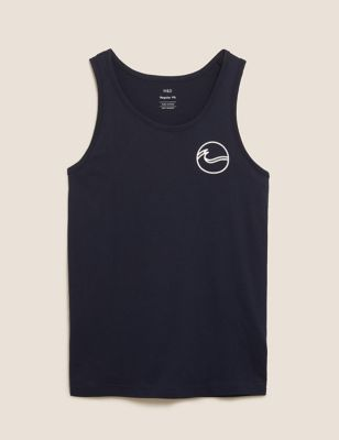 Pure Cotton Ocean Graphic Vest