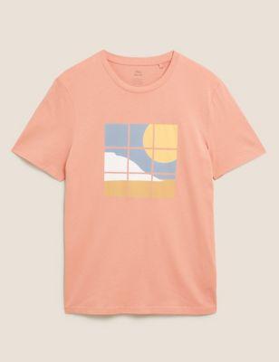 Slim Fit Pure Cotton Graphic T-Shirt