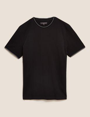 Premium Cotton Tipped T-Shirt