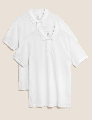 2 Pack Pure Cotton Polo Shirts