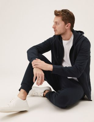 Pure Cotton Zip Up Hoodie & Joggers Set