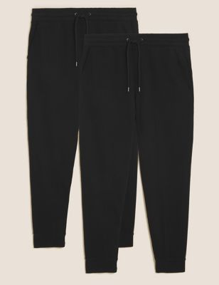 2 Pack Cuffed Pure Cotton Joggers