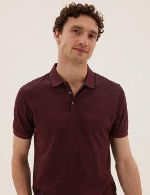 Premium Cotton Striped Polo Shirt
