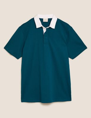 Pure Cotton Short Sleeve Rugby Top