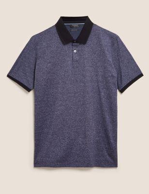 Premium Cotton Textured Polo Shirt