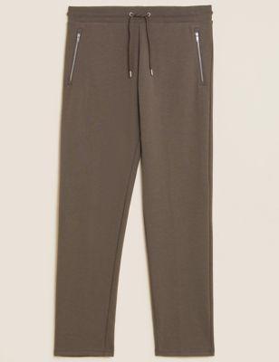 Cotton Zip Pocket Joggers