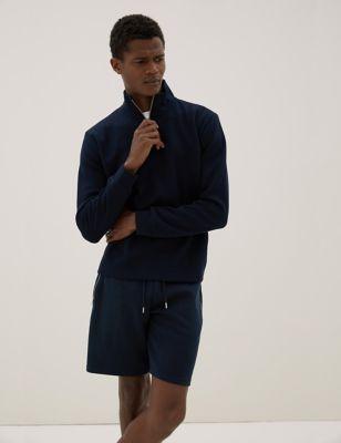 Cotton Drawstring Zip Pocket Shorts