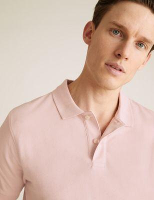 Slim Fit Pure Cotton Pique Polo Shirt