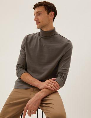 Brushed Cotton Long Sleeve T-Shirt