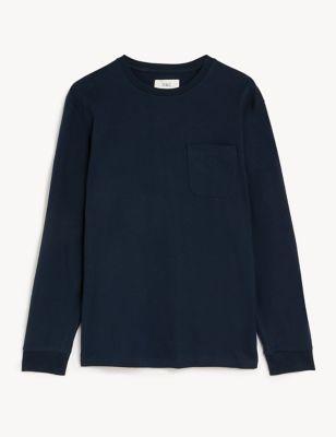 Pure Cotton Heavyweight Long Sleeve T-Shirt