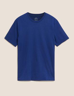 Pure Cotton Crew Neck T-Shirt