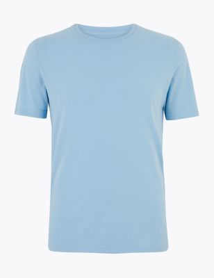 Slim Fit Pure Cotton Crew Neck T-Shirt