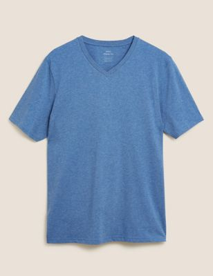 Pure Cotton V-Neck T-Shirt