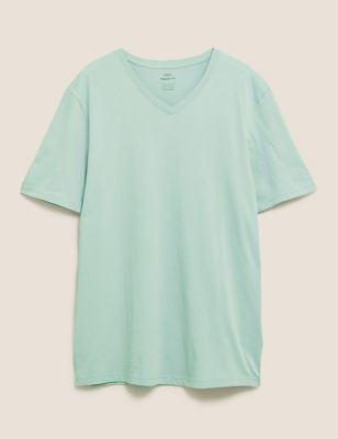 Pure Cotton V-Neck T-Shirt