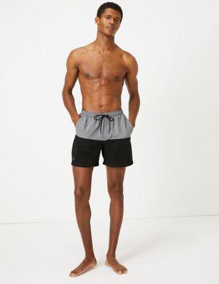 Quick Dry Colour Block Swim Shorts