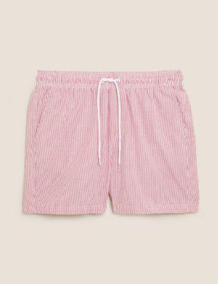 Quick Dry Seersucker Swim Shorts