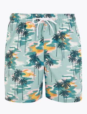 Quick Dry Hawaiian Swim Shorts