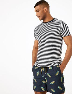 Quick Dry Corn Print Swim Shorts