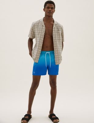 Quick Dry Dip Dye Print Swim Shorts