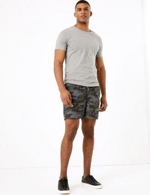 Quick Dry Camouflage Print Swim Shorts