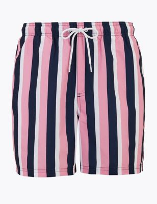 Quick Dry Vertical Striped Swim Shorts