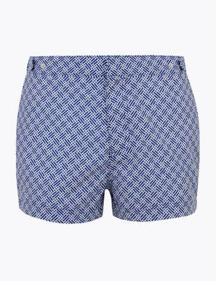 Geometric Print Swim Shorts