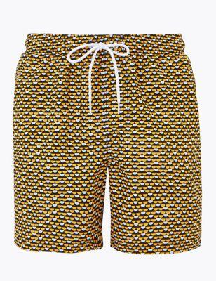 Quick Dry Geometric Swim Shorts