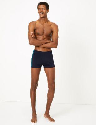 Quick Dry Side Stripe Swim Shorts