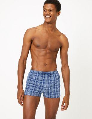 Quick Dry Checked Swim Shorts
