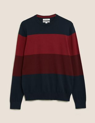 Premium Cotton Block Stripe Jumper