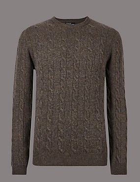 Merino Cashmere Jumper, BROWN MIX, catlanding