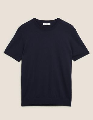 Cotton Knitted T-Shirt