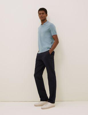 Silk Cotton Blend Knitted Polo Shirt