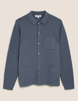 Cotton Popper Knitted Jacket
