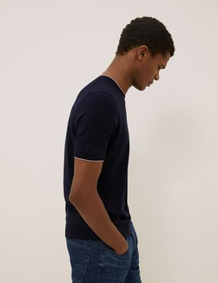 Cotton Tipped Knitted T-Shirt